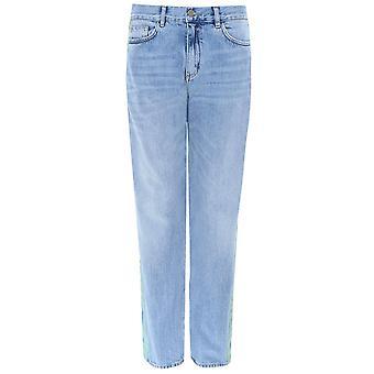 Victoria Beckham Side Stripe Straight Jeans
