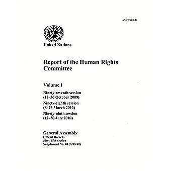 Verslag van de Commissie rechten van de mens: negentig-zevende sessie; Negentig-achtste zitting; Negentig-negende zitting, Volume...