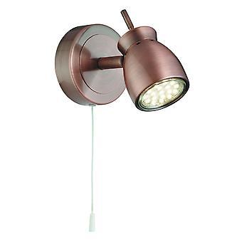 Júpiter cobre acabado lámpara de pared LED - reflector 8811CU