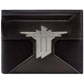 Wolfenstein II The New Colossus Silver Badge Coin & Card Bi-Fold Wallet