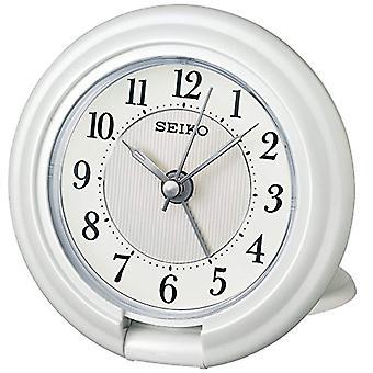Seiko Unisex desperta alarme em qht014_W de plástico branco