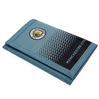 Manchester City FC Fade Design Touch Fastening Nylon Wallet