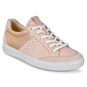 Ecco Womens Soft 7 W Powder Cushion Sole Leather Trainers Shoes
