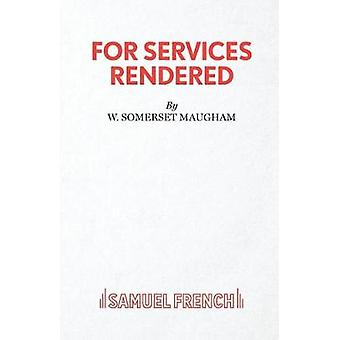 For Services Rendered by For Services Rendered - 9780573114670 Book