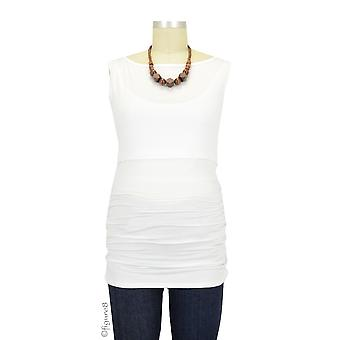 Baju Mama Audrey Sleeveless Boatneck Maternity & Nursing Top