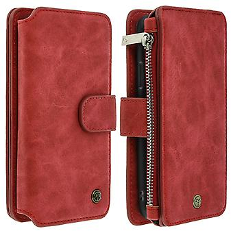 Apple iPhone X/XS Wallet Multi-Fach Case-Red