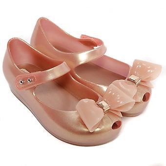 Melissa Shoes Mini Ultragirl Bow 19 Shoe, Blush Pearlized