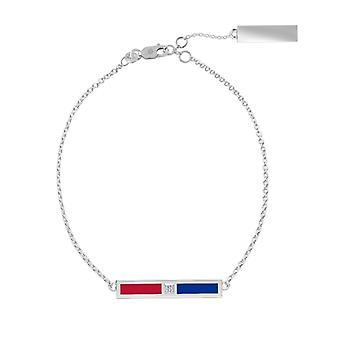 Philadelphia Phillies Sterling Silver Diamond Chain Chain armbånd i rød og blå
