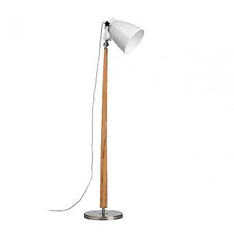 Premier Home Stockholm golvlampa/Storbritannien plugg, trä, Natural