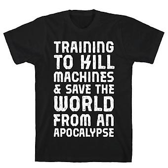 Training om machines te doden & Save t-shirt