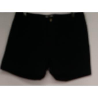 OSO Casuals Shorts Zip Front Cuffed Utility Short Black Womens A425963