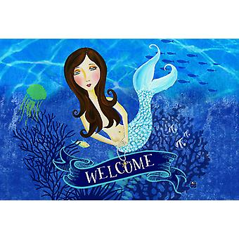 Carolines Treasures VHA3010PLMT velkommen havfrue stof Placemat