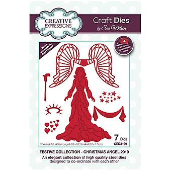 Sue Wilson Die Set Christmas Angel - France Collection Festive