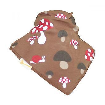 Brown mushroom bandana bib