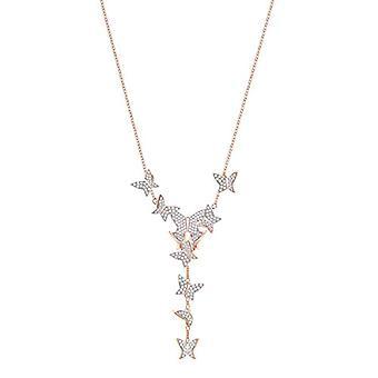 Swarovski halskæde Lariat Y Donna Vermeil-5480512