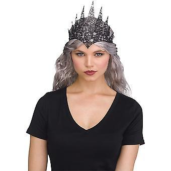 Schwarze Glitter Krone