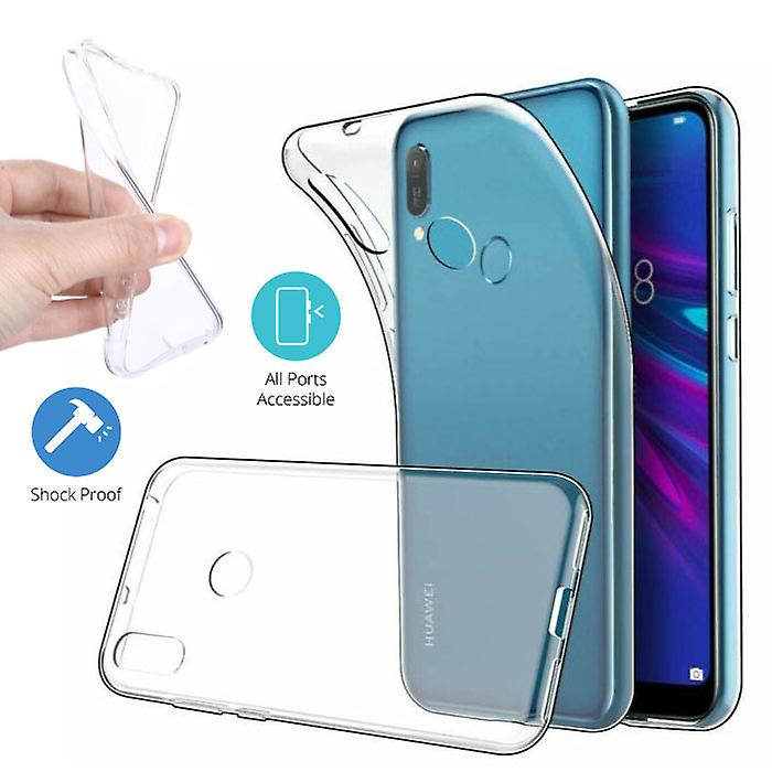 Stuff Certified® Huawei Y6 2019 Transparent TPU Case + Screen Protector Tempered Glass