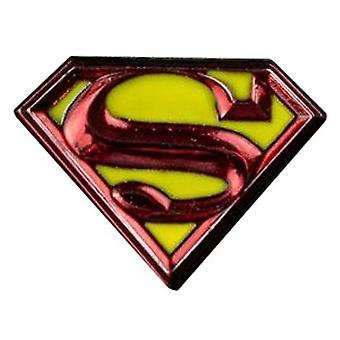 Superman Logo Farbe Emaille Anstecknadel
