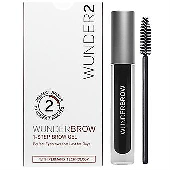 Wunder2 WunderBrow 1-Step Brow Gel Jet Black 0.105oz / 3g