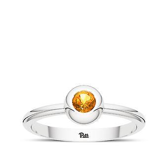 University of Pittsburgh kvarts ring i sterling sølv design af BIXLER
