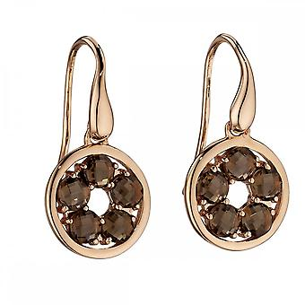 Elements Gold Rose Gold Smokey Circle Earrings GE2189Y