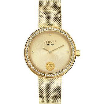 対ヴェルサーチ VSPEN0819 女性's リーゴールドトーン腕時計
