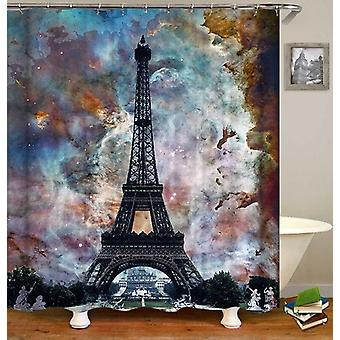 Eiffel Tower Over Magical Skies Shower Curtain
