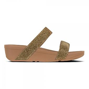 FitFlop Lottie Glitzy Ladies Slide Sandálias Artisan Gold
