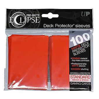 Pro-Matte Eclipse Apple Red Standard Deck Protector manga 100ct (Pacote de 6)