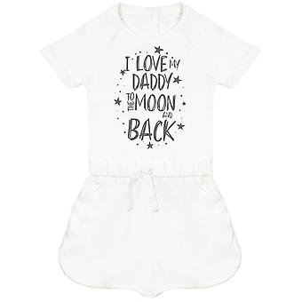 I Love My Daddy To The Moon And Back Baby Playsuit