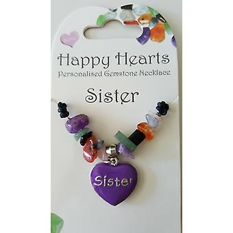 Sister Happy Heart Necklace