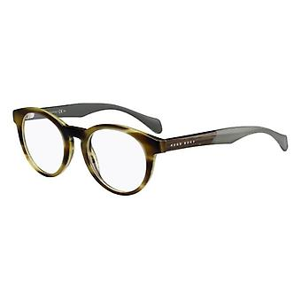 Hugo Boss 0913 1K5 Horn Crystal Green Glasses