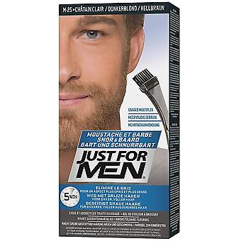 Just For Men 3 X Just For Men Brush In Facial Hair Colour - M25 Natural Light Brown