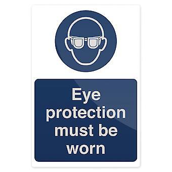 Oogbescherming moet worden gedragen teken-200x300mm stijve