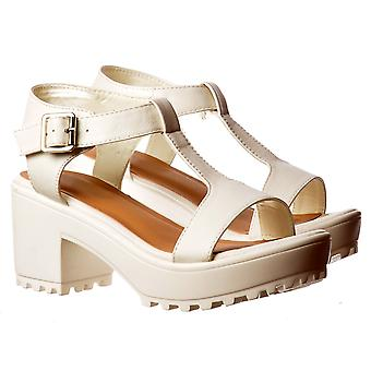 Onlineshoe  T Bar Low Heel Cleated Sole