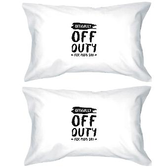 Off Duty Mom Day Pillowcases Standard Size Pillow Covers Mom Gift