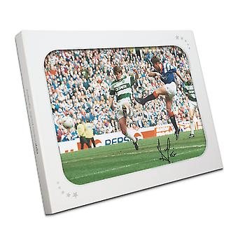 Ally McCoist signiert Rangers Foto: Old Firm Derby In Gift Box