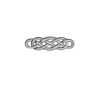 Zilver 49x15mm Keltische broche
