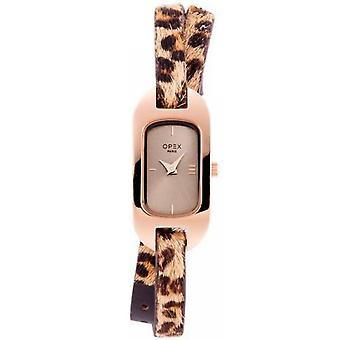 Opex OPW012 Watch - BLER Leather Bracelet Brown Bo tier Steel Dor pink Women