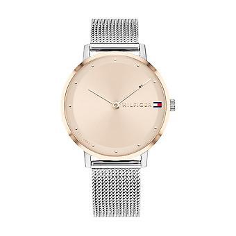 Tommy Hilfiger horloge 1782151-dor Dial roze Staal Gebreide armband Milanese zilver zilver