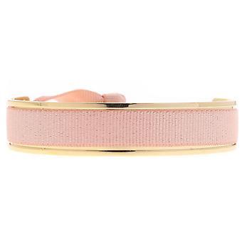 Les verwisselbare armband A42756-Jonc lint verwisselbare 9mm roze vrouwen