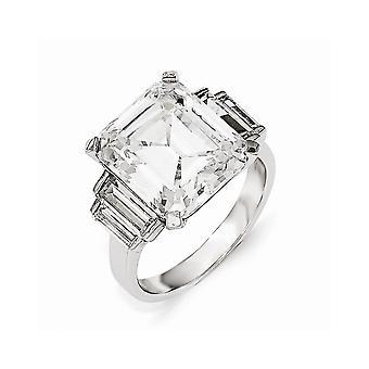 Cheryl M 925 Sterling Silver CZ Cubic Zirconia Gesimuleerde Diamond Square Ring Sieraden Geschenken voor vrouwen - Ring Grootte: 7 tot 8