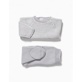 Zippy Nb Set Knit Light Grey