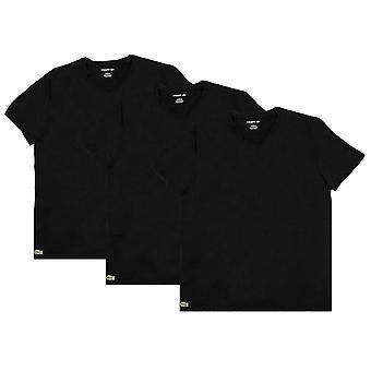 Lacoste Classic 3 Pack V Neck T-Shirts - Noir