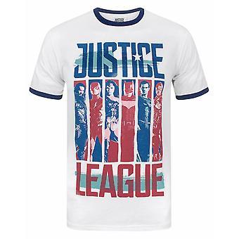 Justice League Character Strips Men's Ringer T-Shirt