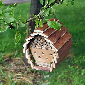 Hanging Wooden Insect Bee Bird Squirrel Hotel House Box Nest Garden Keeping New