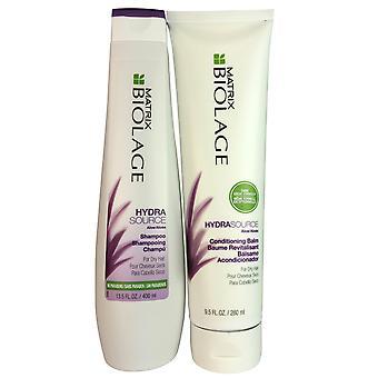 Matrix biolage hydrasource shampoo & conditioner balm set for dry hair