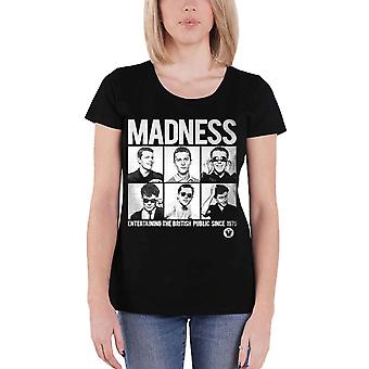 Madness T Shirt Since 1979 Band Logo new Official Womens Skinny Fit Black