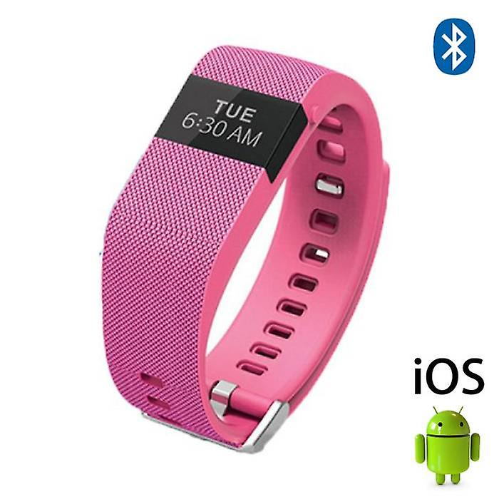 Stuff Certified® Original TW64 Smartband Fitness Sport Activity Tracker Smartwatch Smartphone Watch OLED iOS Android iPhone Samsung Huawei Pink