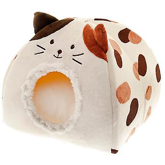 Ferribiella Igloo Cat with Stained Print (Cats , Bedding , Igloos)